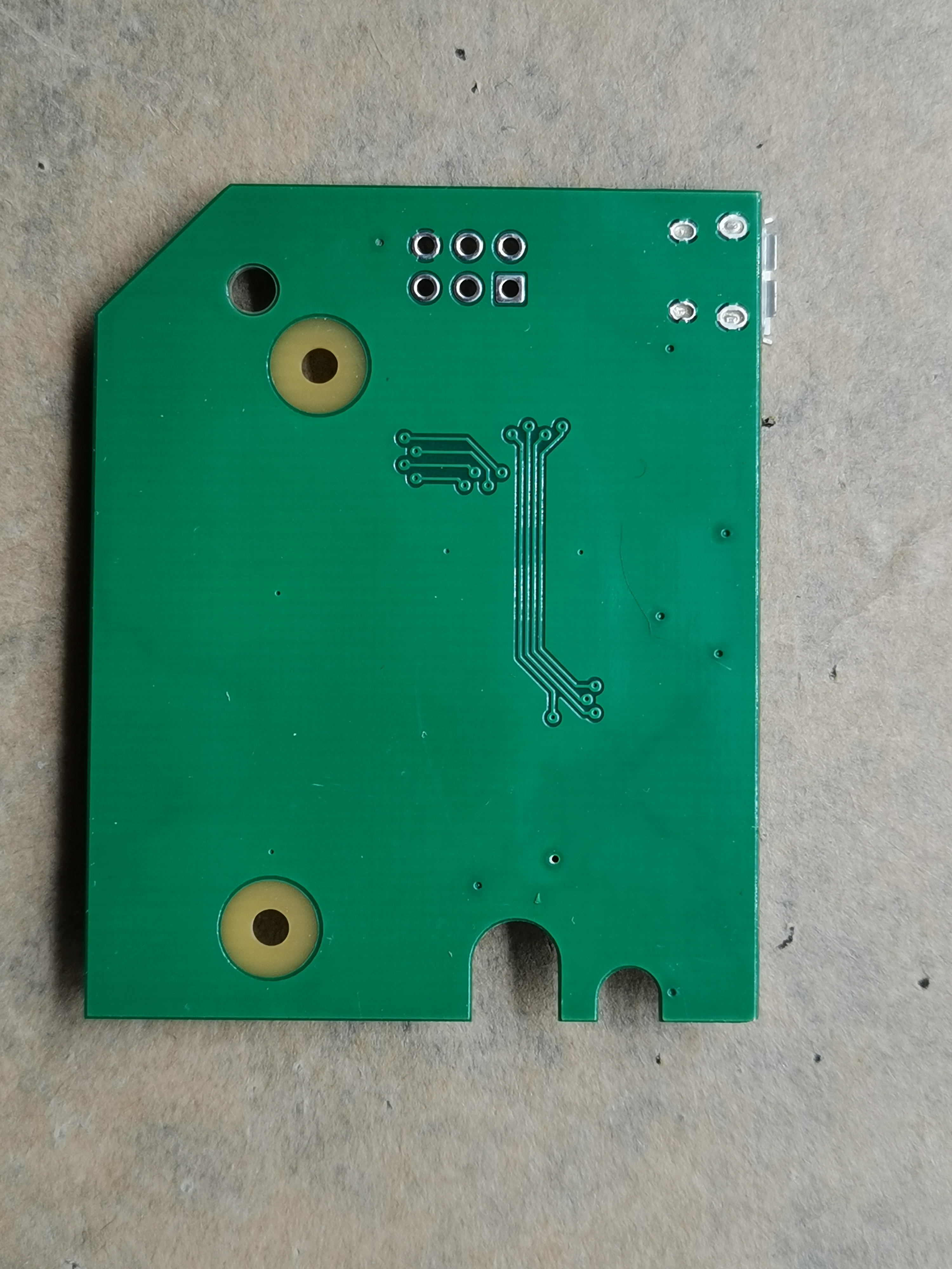 Bottom of assembled board